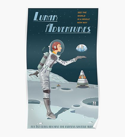 Moon Travel Poster Poster