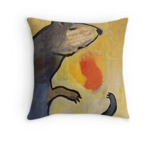stoat Throw Pillow
