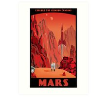 Mars Travel Poster Art Print