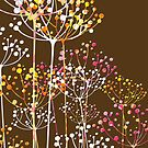Cute Retro Pastel Tones Floral Design by artonwear