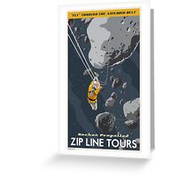 Asteroids Travel Poster Greeting Card
