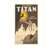 Titan Travel Poster Art Print