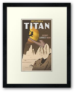 Titan Travel Poster by stevethomasart