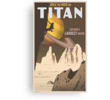 Titan Travel Poster Canvas Print