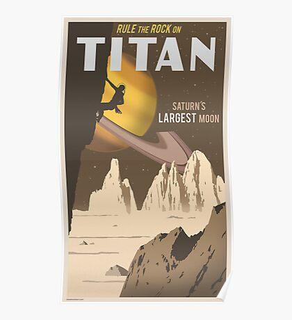 Titan Travel Poster Poster