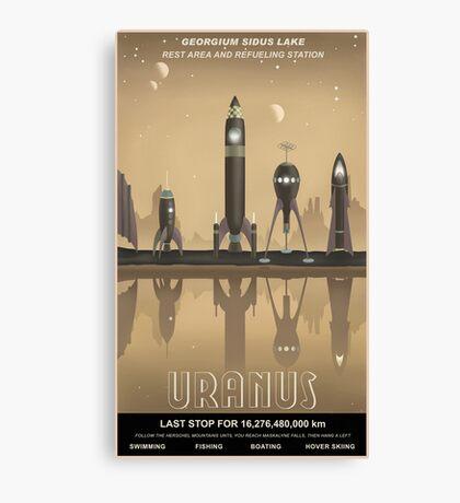 Uranus Travel Poster Canvas Print