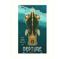 Neptune Travel Poster Art Print