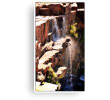 Rock Waterfalls  Western Australia Canvas Print