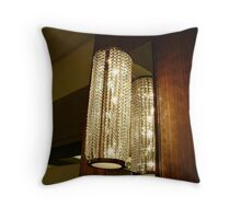 Lamp and Its Reflection, Taj Mahal, Atlantic City, NJ Throw Pillow