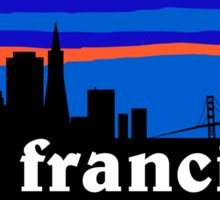 San Francisco - California. Awesome sunset skyline Sticker