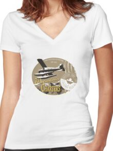 Canadian seaplane Women's Fitted V-Neck T-Shirt