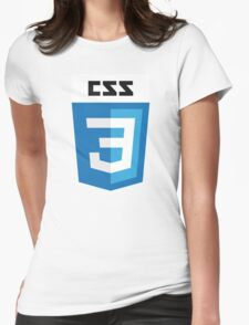 CSS3 (Text) Womens Fitted T-Shirt