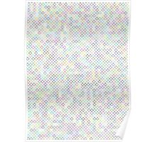 Multi-color Fishscale Pattern  Poster