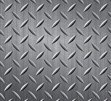 Gray Tonnes Metal Look Rewets Pattern by artonwear