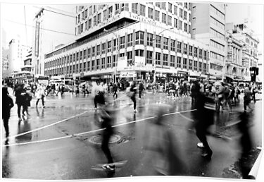 Elizabeth & Flinders - Saturday afternoon - Melbourne by Megan Gardner