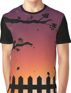 Sunset in the Fall Graphic T-Shirt