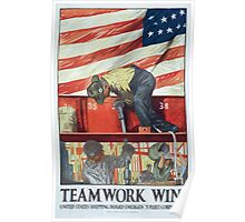 Teamwork wins United States Shipping Board Emergency Fleet Corporation Poster