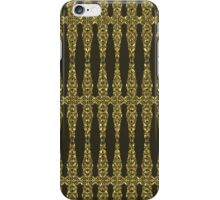 Brown And Gold Tones Ornate Heraldic Floral Pattern iPhone Case/Skin
