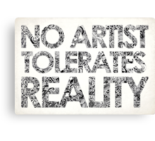 Reality Canvas Print