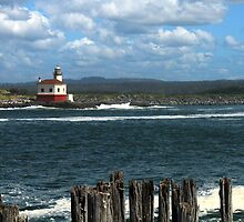 Coquille River Lighthouse by James Eddy