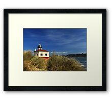 Bandon Coquille River Lighthouse Framed Print