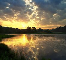 Sunrise over Lackawanna Lake by Andrew Taylor
