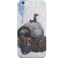 Jullbocken The Yule Goat Being Ridden By A Child iPhone Case/Skin