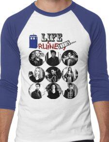 Life Ruiners - Tardis Edition Men's Baseball ¾ T-Shirt