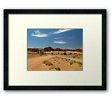 Cross Roads in Monument Valley Framed Print