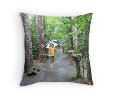 Enjoying the Pouring Rain, Paronella Park. Queensland. Throw Pillow