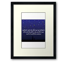 The Way Of The Universe : Calvin and Hobbes Framed Print