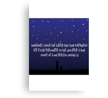 The Way Of The Universe : Calvin and Hobbes Canvas Print