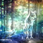 Fantasy Wolf Forest by shivonnejean