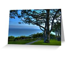 Rancho Palos Verdes Ocean View Greeting Card