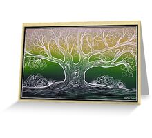 Silver Tree Greeting Card Greeting Card