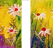 2 Daisy pictures, watercolor by Anna  Lewis