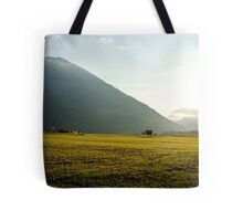 Morninglight over the valley Tote Bag