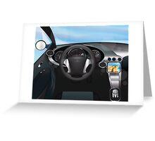 Sports Car Dashboard Greeting Card