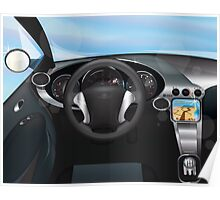 Sports Car Dashboard Poster