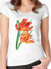 Parrot Tulips Women's Fitted Scoop T-Shirt