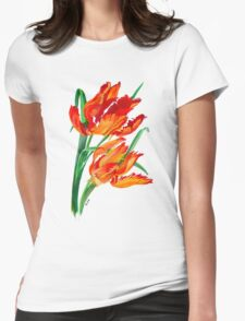 Parrot Tulips Womens Fitted T-Shirt