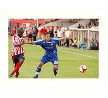 Pre season friendly Witton Albion v Macclesfield Town Art Print