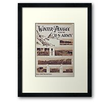 Winter in Panama with the US Army Framed Print