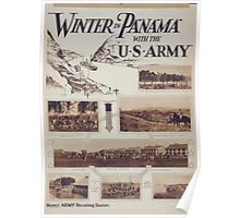 Winter in Panama with the US Army Poster