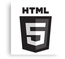 HTML 5 - Black (Badge) Canvas Print
