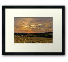 Dusk in Kent Framed Print