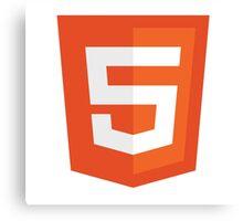 HTML 5 (Badge) Canvas Print