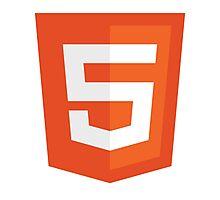 HTML 5 (Badge) Photographic Print
