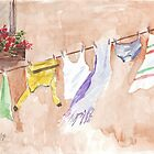 The Clothesline said so much by Maree  Clarkson