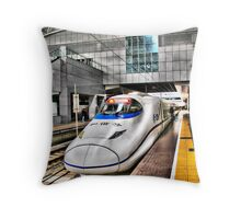 Bullet Train Throw Pillow